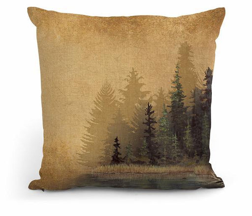 "Misty Forest I 18"" Decorative Pillow"