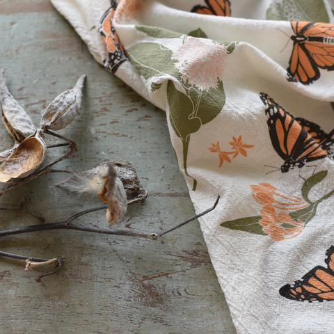 June and December Monarchs & Milkweeds Towel