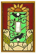 Mosaic Sunflower Light Switch Plate Covers