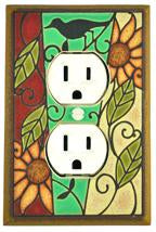Mosaic Sunflower Outlet Switch Plate Covers