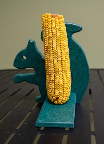 Mr. Squirrel Feeder with corn for squirrels