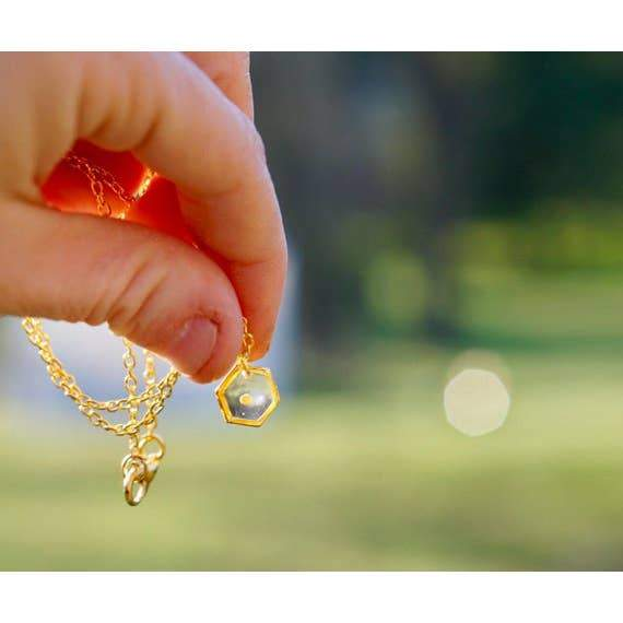 Gold Plated Mustard Seed Necklace