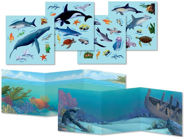 Ocean Animals Sticker Tote -reusable stickers