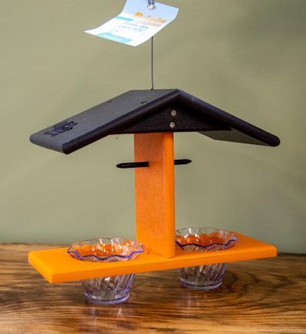 Double Oriole hanging bird feeder