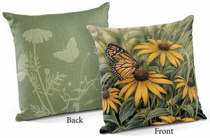 "Monarch Butterfly 18"" Decorative Pillow"