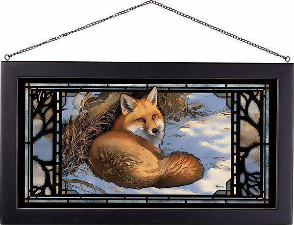 Restful Moment-Fox Stained Glass Art