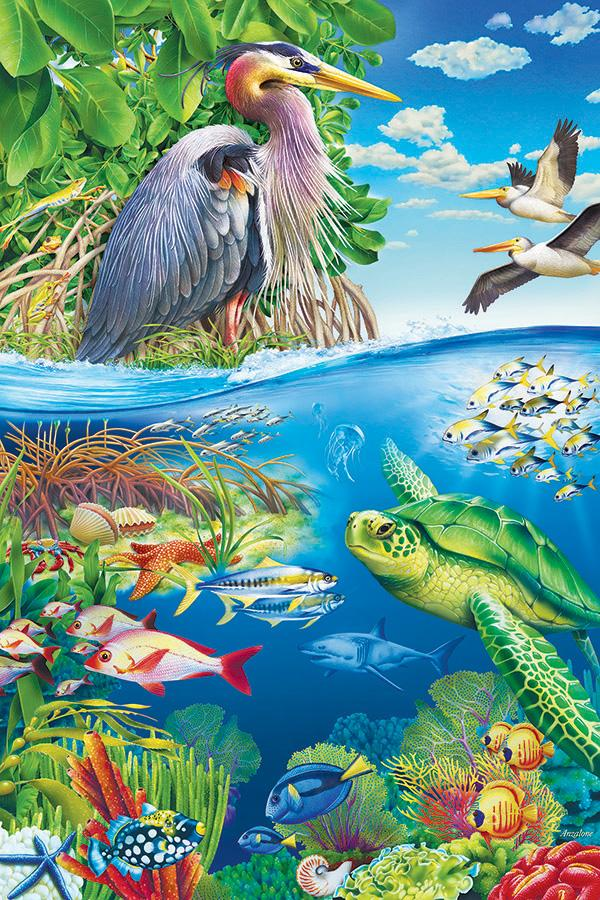 48 piece Air and Sea Floor Puzzle