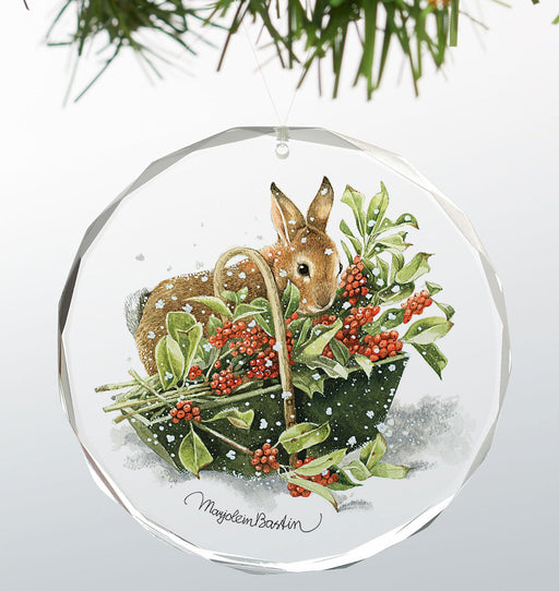 bunny in basket ornament