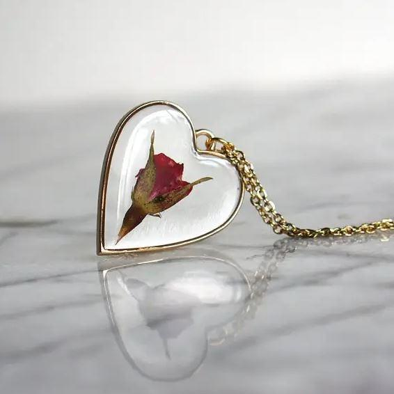 Rose Heart Necklace 1