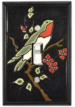 Ruby Hummingbird Light Switch Plate Covers