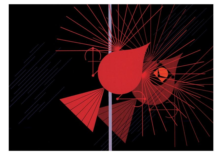 CHARLEY HARPER: SEEING RED NOTECARD