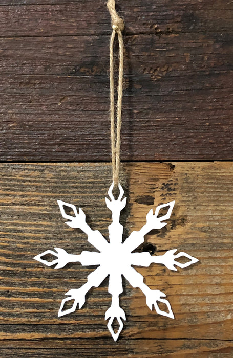 Snowflake #1 metal Ornament