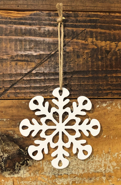 Snowflake #3 metal Ornament
