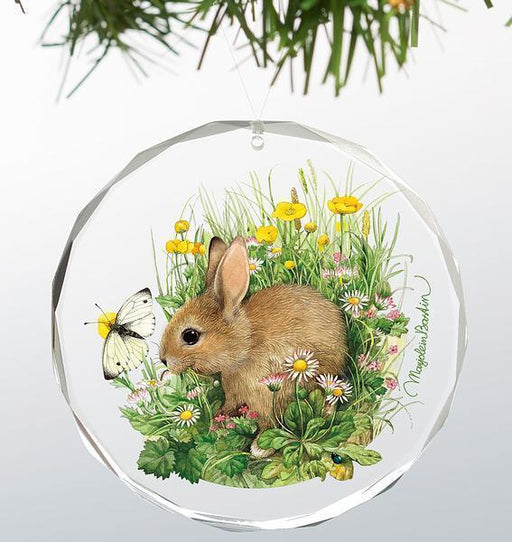 Spring Snack - Bunny Round Glass Ornament
