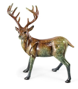 Suspense – Whitetail Deer Small Imago™ Sculpture in Gloss Finish