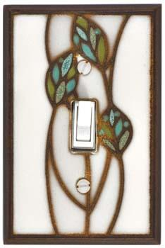 Three Leaves Light Switch Plate Covers
