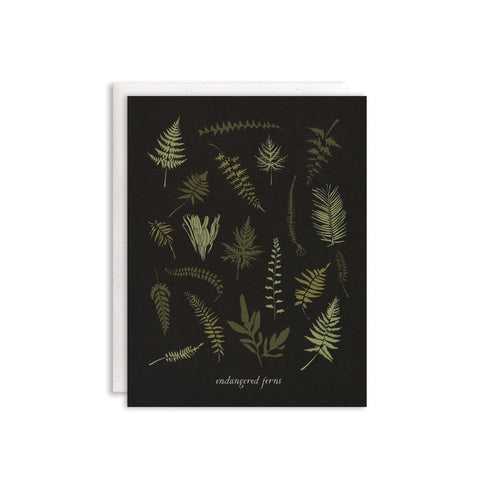 endangered ferns card