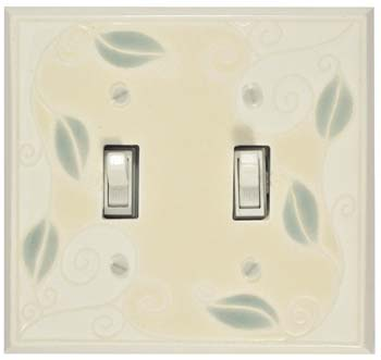 Trailing Vine Double Light Switch Plate