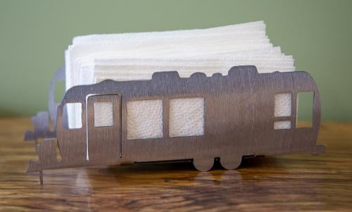 airstream trailer napkin and candle holder