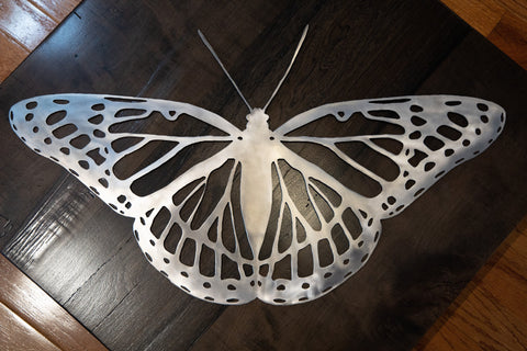 viceroy butterfly in stainless steel wall art