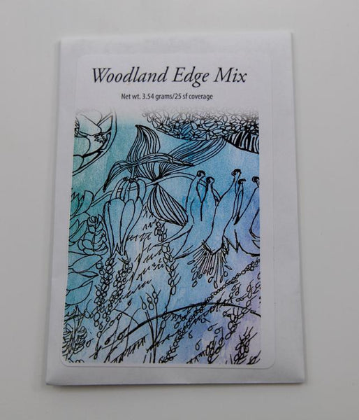 Woodland edge native seed mix packet
