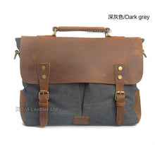 Load image into Gallery viewer, Vintage military leather bag