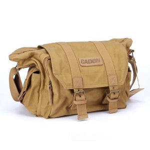 Waterproof Canvas Camera Shoulder Bag Sling Photo Video Soft Bag Pack Travel Camera Protective Cases for DSLR Canon Nikon Sony