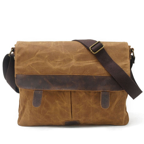 Muchuan 9158# Shoulder Batik Waterproof Canvas Bag Outdoor Travel Retro Casual Computer DSLR Shoulder Strap Case Bag