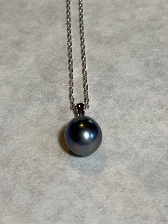 12mm Black Pearl Pendant