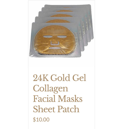 24K Gold  Gel Collagen Facial Mask Sheet Patch