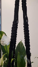 Load image into Gallery viewer, Black Macrame Plant Hanger #11