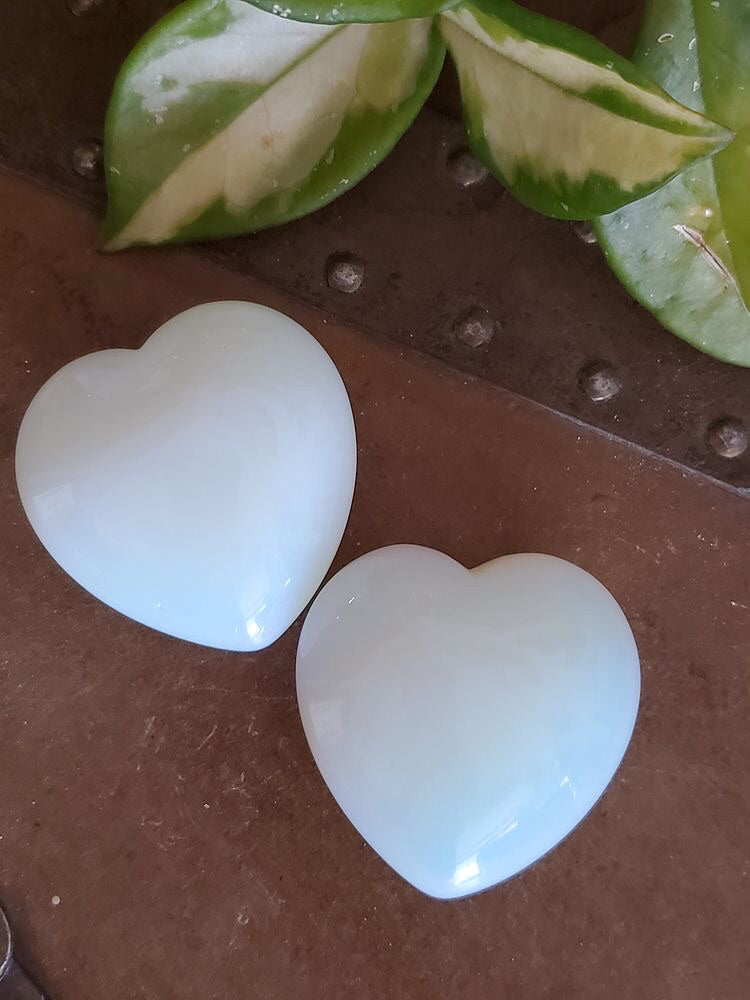 Opalite heart palm sized