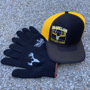 *NEW!  BLACK & GOLD TRUCKER HAT
