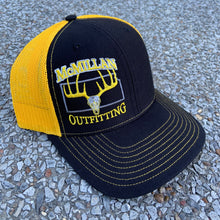 Load image into Gallery viewer, *NEW!  BLACK & GOLD TRUCKER HAT