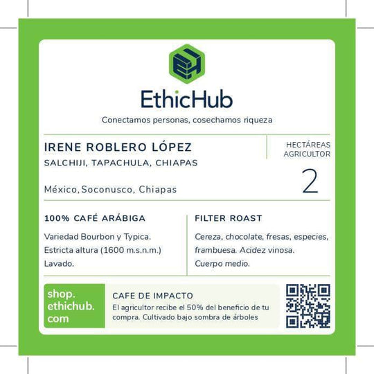 Specialty coffee filter HORECA - Irene Roblero
