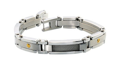 Stainless Steel Cable Link Bracelet