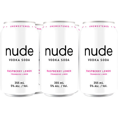 NUDE VODKA SODA RASPBERRY LEMON