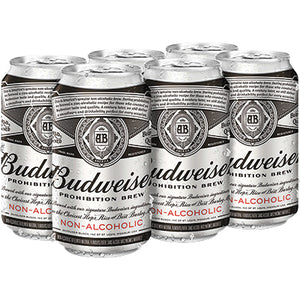 BUDWEISER PROHIBITION BREW NON-ALCOHOLIC
