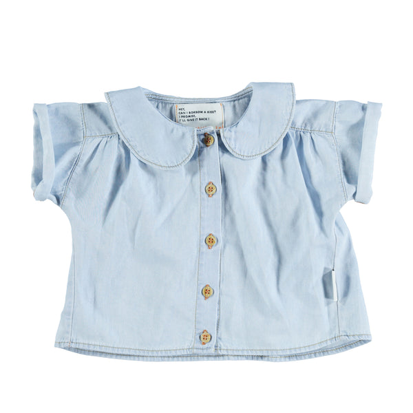 Peter Pan shirt ( blue washed denim )