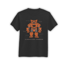Load image into Gallery viewer, armorvor_orange_shirt_black