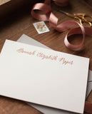 Personalized Letterpress Notecards