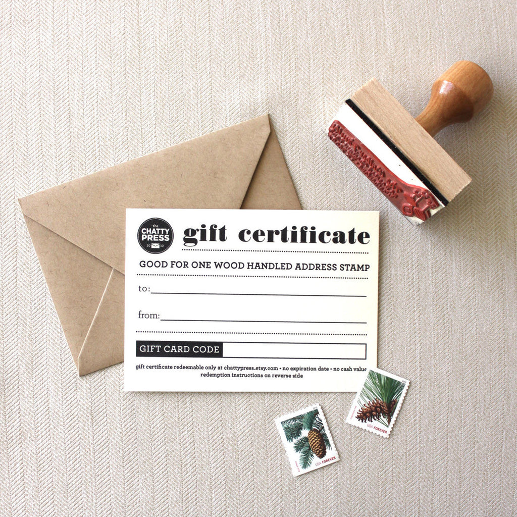 custom return address gift card