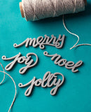 hand lettered calligraphy gift tags silver acrylic