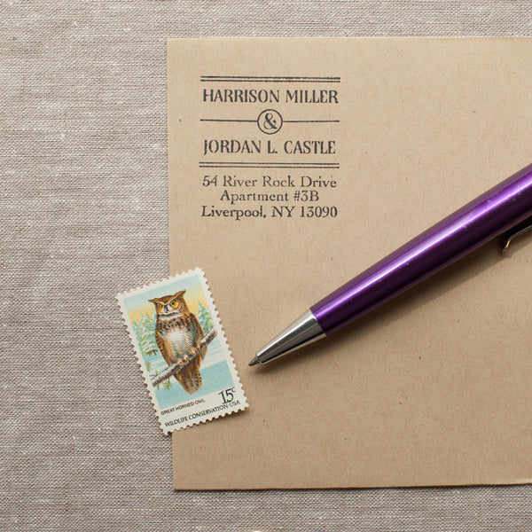 Art Deco Self-inking Stamp