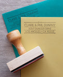 jazz age return address stamp for wedding invitations and cards