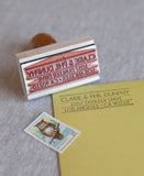 art deco return address stamp inspired by the great gatsby