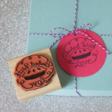 Bakery tag diy stamp rubber stamp for baked goods favors