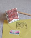 banner address stamp from the chatty press