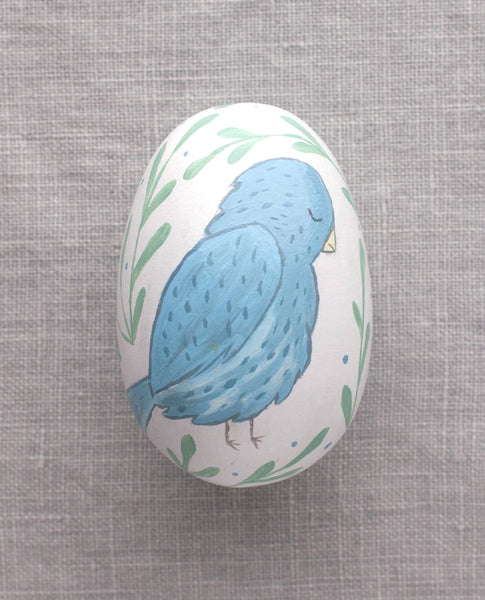 Blue Bird - Painted Egg