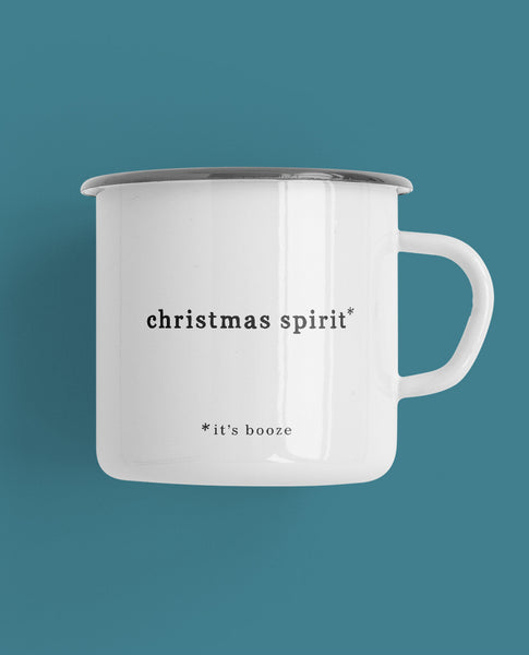 Christmas Spirit Camp Mug* It's Booze